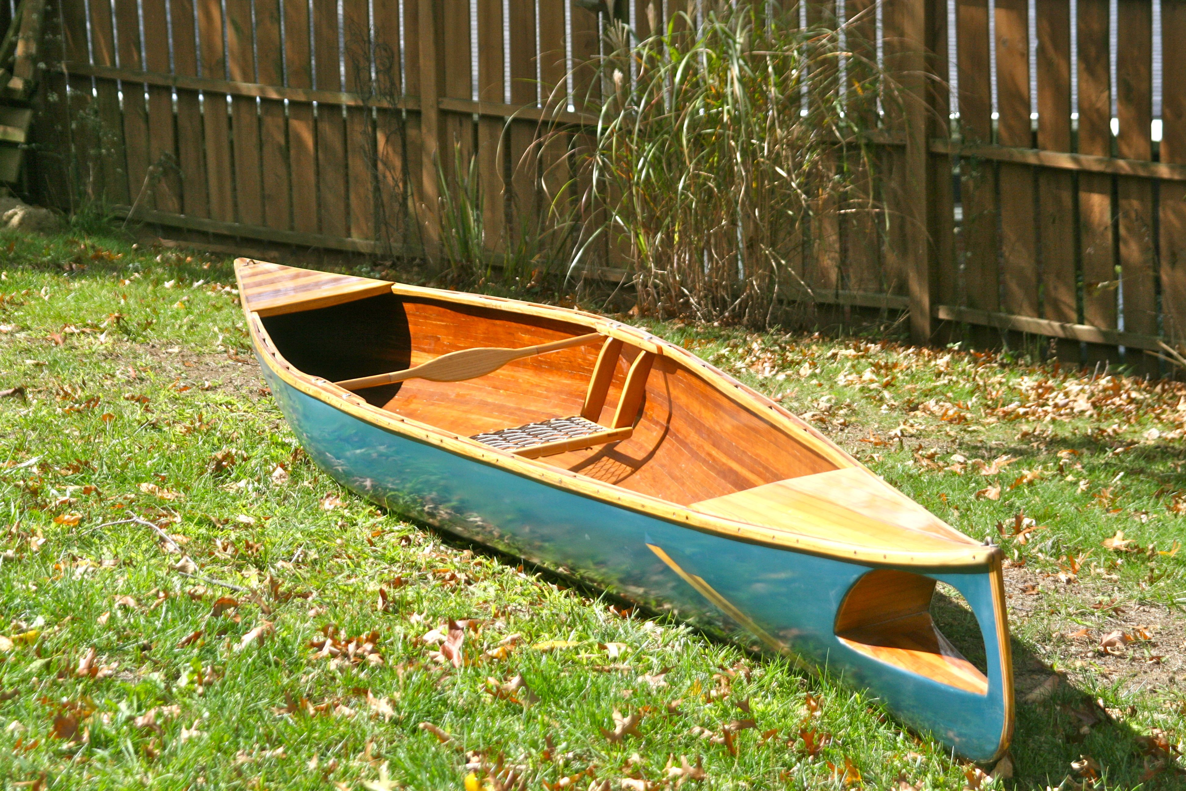 Wood strip canoe car interior design